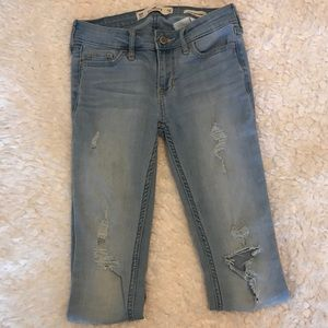 Hollister Jeans - Hollister Light Wash Ripped Jeans